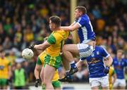 13 May 2018; Patrick McBrearty of Donegal in action against Fergal Reilly of Cavan during the Ulster GAA Football Senior Championship Preliminary Round match between Donegal and Cavan at Páirc MacCumhaill in Donegal. Photo by Oliver McVeigh/Sportsfile