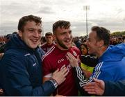 13 May 2018; Damien Comer of Galway celebrates with supporters following the Connacht GAA Football Senior Championship Quarter-Final match between Mayo and Galway at Elvery's MacHale Park in Mayo. Photo by Eóin Noonan/Sportsfile