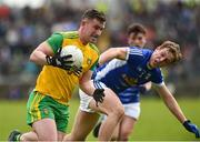 13 May 2018; Patrick McBrearty of Donegal in action against Padraig Faulkner of Cavan during the Ulster GAA Football Senior Championship Preliminary Round match between Donegal and Cavan at Páirc MacCumhaill in Donegal. Photo by Oliver McVeigh/Sportsfile