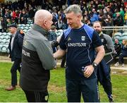 13 May 2018; Donegal manager Declan Bonnor and Cavan manager Mattie McGleenan shake hands following the Ulster GAA Football Senior Championship Preliminary Round match between Donegal and Cavan at Páirc MacCumhaill in Donegal. Photo by Philip Fitzpatrick/Sportsfile