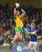 13 May 2018; Michael Murphy of Donegal in action against Ciaran Brady of Cavan during the Ulster GAA Football Senior Championship Preliminary Round match between Donegal and Cavan at Páirc MacCumhaill in Donegal. Photo by Oliver McVeigh/Sportsfile