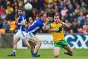 13 May 2018; Ciaran McGinley of Donegal in action against Martin Reilly of Cavan during the Ulster GAA Football Senior Championship Preliminary Round match between Donegal and Cavan at Páirc MacCumhaill in Donegal. Photo by Oliver McVeigh/Sportsfile