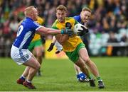 13 May 2018; Stephen McMenamin of Donegal in action against Cian Mackey of Cavan during the Ulster GAA Football Senior Championship Preliminary Round match between Donegal and Cavan at Páirc MacCumhaill in Donegal. Photo by Oliver McVeigh/Sportsfile