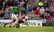 13 May 2018; Shane Brennan of Meath in action against Allan Devine of Westmeath during the Joe McDonagh Cup Round 2 match between Westmeath and Meath at TEG Cusack Park in Westmeath. Photo by Sam Barnes/Sportsfile