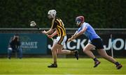 13 May 2018; Cathal O'Leary of Kilkenny in action against Ciarán Hogan of Dublin during the Electric Ireland Leinster GAA Hurling Minor Championship Round 1 match between Dublin and Kilkenny at Parnell Park in Dublin. Photo by Daire Brennan/Sportsfile