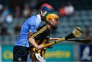 13 May 2018; Ciarán Brennan of Kilkenny in action against Ciarán Hogan of Dublin during the Electric Ireland Leinster GAA Hurling Minor Championship Round 1 match between Dublin and Kilkenny at Parnell Park in Dublin. Photo by Daire Brennan/Sportsfile