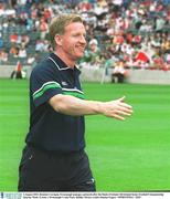3 August 2003; Dominic Corrigan, Fermanagh manager, pictured after the Bank of Ireland All-Ireland Senior Football Championship Quarter Final, Tyrone v Fermanagh, Croke Park, Dublin. Picture credit; Damien Eagers / SPORTSFILE. *EDI*