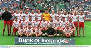 3 August 2003; The Tyrone squad take their team photo. Bank of Ireland All-Ireland Senior Football Championship Quarter Final, Tyrone v Fermanagh, Croke Park, Dublin. Picture credit; Damien Eagers / SPORTSFILE. *EDI*