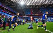 12 May 2018; Robbie Henshaw, left, and Jonathan Sexton of Leinster during the European Rugby Champions Cup Final match between Leinster and Racing 92 at the San Mames Stadium in Bilbao, Spain. Photo by Ramsey Cardy/Sportsfile