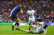 12 May 2018; Robbie Henshaw of Leinster in action against Wenceslas Lauret of Racing 92 during the European Rugby Champions Cup Final match between Leinster and Racing 92 at the San Mames Stadium in Bilbao, Spain. Photo by Ramsey Cardy/Sportsfile