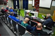 14 May 2018; Munster head coach Johann van Graan speaking to reporters during a Munster Rugby press conference at the University of Limerick in Limerick. Photo by Diarmuid Greene/Sportsfile