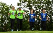 14 May 2018; In attendance at the launch of the 39th running of the SSE Airtricity Dublin Marathon are, from left, Lizzie Lee, Mary Nolan Hickey, Mary Jennings and Caitriona Jennings at Merrion Square in Dublin. 2018, will mark and celebrate female runners, linking with the nationwide commemoration of Vótáil 100. Constance Markievicz, a key campaigner for Irish women's voting rights, will appear on all finishers medals. Photo by Sam Barnes/Sportsfile