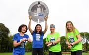 14 May 2018; In attendance at the launch of the 39th running of the SSE Airtricity Dublin Marathon are, from left, Mary Jennings, Caitriona Jennings, Mary Nolan Hickey and Lizzie Lee at Merrion Square in Dublin. 2018, will mark and celebrate female runners, linking with the nationwide commemoration of Vótáil 100. Constance Markievicz, a key campaigner for Irish women's voting rights, will appear on all finishers medals. Photo by Sam Barnes/Sportsfile