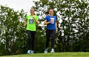 14 May 2018; In attendance at the launch of the 39th running of the SSE Airtricity Dublin Marathon are Lizzie Lee, left, and Caitriona Jennings at Merrion Square in Dublin. 2018, will mark and celebrate female runners, linking with the nationwide commemoration of Vótáil 100. Constance Markievicz, a key campaigner for Irish women's voting rights, will appear on all finishers medals. Photo by Sam Barnes/Sportsfile