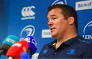 14 May 2018; Scrum coach John Fogarty during a Leinster Rugby press conference at Leinster Rugby Headquarters in Dublin. Photo by Brendan Moran/Sportsfile