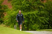 14 May 2018; Simon Zebo makes his way out for Munster Rugby squad training at the University of Limerick in Limerick. Photo by Diarmuid Greene/Sportsfile