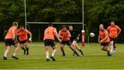 14 May 2018; Niall Scannell, Rhys Marshall, Rory Scannell, Jeremy Loughman and Brian Scott in action during Munster Rugby squad training at the University of Limerick in Limerick. Photo by Robin Copeland/Sportsfile