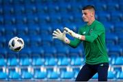 14 May 2018; Jimmy Corcoran of Republic of Ireland warms up prior to the UEFA U17 Championship Quarter-Final match between Netherlands and Republic of Ireland at the Proact Stadium in Chesterfield, England. Photo by Malcolm Couzens/Sportsfile