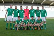 14 May 2018; Republic of Ireland team pose for a photograph prior to the UEFA U17 Championship Quarter-Final match between Netherlands and Republic of Ireland at Proact Stadium in Chesterfield, England. Photo by Malcolm Couzens/Sportsfile