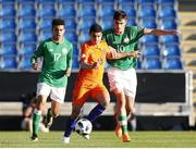 14 May 2018; Troy Parrott of Republic of Ireland in action against Elayis Tavsan of Netherlands during the UEFA U17 Championship Quarter-Final match between Netherlands and Republic of Ireland at Proact Stadium in Chesterfield, England. Photo by Malcolm Couzens/Sportsfile