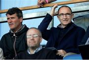14 May 2018; Republic of Ireland mens senior manager Martin O'Neil and assistant manager Roy Keane, left, look on during the UEFA U17 Championship Quarter-Final match between Netherlands and Republic of Ireland at Proact Stadium in Chesterfield, England. Photo by Malcolm Couzens/Sportsfile