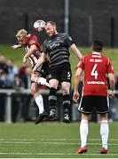 14 May 2018; Nicky Low of Derry City in action against Chris Sheilds of Dundalk during the SSE Airtricity League Premier Division match between Derry City and Dundalk at the Brandywell Stadium in Derry. Photo by Oliver McVeigh/Sportsfile