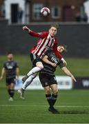 14 May 2018; Ronan Curtis of Derry City in action against George Poynton of Dundalk during the SSE Airtricity League Premier Division match between Derry City and Dundalk at the Brandywell Stadium in Derry. Photo by Oliver McVeigh/Sportsfile