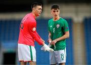14 May 2018; Oisin McEntee of Republic of Ireland takes over as goalkeeper from Jimmy Corcoran during the penalty shoot out during the UEFA U17 Championship Quarter-Final match between Netherlands and Republic of Ireland at Proact Stadium in Chesterfield, England. Photo by Malcolm Couzens/Sportsfile