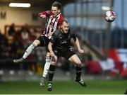 14 May 2018; Ronan Curtis of Derry City in action against Chris Sheilds of Dundalk during the SSE Airtricity League Premier Division match between Derry City and Dundalk at the Brandywell Stadium in Derry. Photo by Oliver McVeigh/Sportsfile
