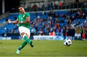 14 May 2018; Adam Idah of Republic of Ireland misses a penalty kick during the shoot out of the UEFA U17 Championship Quarter-Final match between Netherlands and Republic of Ireland at Proact Stadium in Chesterfield, England. Photo by Malcolm Couzens/Sportsfile