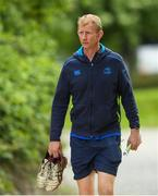 15 May 2018; Head coach Leo Cullen arrives to Leinster Rugby squad training at UCD in Dublin. Photo by Eóin Noonan/Sportsfile
