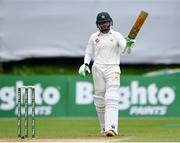 15 May 2018; Imam-ul-Haq of Pakistan acknowledges the crowd after scoring a half-century during day five of the International Cricket Test match between Ireland and Pakistan at Malahide, in Co. Dublin. Photo by Seb Daly/Sportsfile