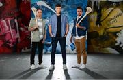 15 May 2018; At the launch of Littlewoods Ireland's #StyleOfPlay campaign for the All-Ireland Senior Hurling Championship are, from left, Anthony Nash of Cork, Austin Gleeson of Waterford and former Kilkenny hurler Kieran Joyce. The fashion, sportswear, electrical and homeware retailer is offering fans the chance to win €5,000 for their club as well as a bespoke mural for their hurling wall. For more information follow Littlewoods Ireland on Facebook, Twitter, Instagram, Snapchat, and blog.littlewoodsireland.ie. Photo by Sam Barnes/Sportsfile