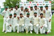 15 May 2018; Pakistan players with the Brighto trophy following their side's victory on day five of the International Cricket Test match between Ireland and Pakistan at Malahide, in Co. Dublin. Photo by Seb Daly/Sportsfile