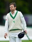 15 May 2018; Ed Joyce of Ireland following his side's defeat on day five of the International Cricket Test match between Ireland and Pakistan at Malahide, in Co. Dublin. Photo by Seb Daly/Sportsfile