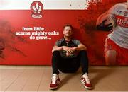 15 May 2018; Enda Lynn of Derry after a Derry Football Press Conference at Owenbeg in Derry. Photo by Oliver McVeigh/Sportsfile