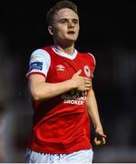 15 May 2018; Thomas Byrne of St Patrick's Athletic celebrates after scoring his side's second goal during the SSE Airtricity League Premier Division match between St Patrick's Athletic and Sligo Rovers at Richmond Park in Dublin. Photo by David Fitzgerald/Sportsfile