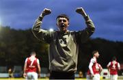 15 May 2018; A St Patrick's Athletic supporter runs on to the pitch to celebrate after Thomas Byrne of St Patrick's Athletic scored their side's second goal during the SSE Airtricity League Premier Division match between St Patrick's Athletic and Sligo Rovers at Richmond Park in Dublin. Photo by David Fitzgerald/Sportsfile