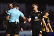 15 May 2018; Sligo Rovers players remonstrate with referee Robert Hennessy after he awarded a penalty to St Patrick's Athletic during the SSE Airtricity League Premier Division match between St Patrick's Athletic and Sligo Rovers at Richmond Park in Dublin. Photo by David Fitzgerald/Sportsfile