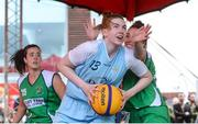 12 May 2018; Bronagh Power Cassidy of DCU Mercy in action against Karen Mealey of Liffey Celtics, Leixlip, right, during #HulaHoops3x3 Ireland's first outdoor 3x3 Basketball championship brought to you by Hula Hoops and Basketball Ireland at Dundrum Town Centre in Dundrum, Dublin. Photo by Piaras Ó Mídheach/Sportsfile