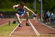 16 May 2018; Jack Murphy of Knockbeg College, Co Carlow, competing in the Junior Boys Long Jump event during Day One of the Irish Life Health Leinster Schools Track and Field Championships at Morton Stadium, Swords Rd, in Santry, Dublin.   Photo by Piaras Ó Mídheach/Sportsfile