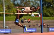16 May 2018; Dami Adesina of St Leo's, Carlow competing in the Junior Girls High Jump event during Day One of the Irish Life Health Leinster Schools Track and Field Championships at Morton Stadium, Swords Rd, in Santry, Dublin. Photo by Piaras Ó Mídheach/Sportsfile