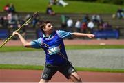 16 May 2018; Ileja Bolaks of Ratoath College, Co Meath, competing in the Junior Boys Javelin event during Day One of the Irish Life Health Leinster Schools Track and Field Championships at Morton Stadium, Swords Rd, in Santry, Dublin.   Photo by Piaras Ó Mídheach/Sportsfile