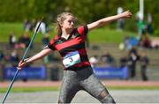 16 May 2018; Jane Perry of Kilkenny College competing in the Girls Junior Javelin event during Day One of the Irish Life Health Leinster Schools Track and Field Championships at Morton Stadium, Swords Rd, in Santry, Dublin.   Photo by Piaras Ó Mídheach/Sportsfile