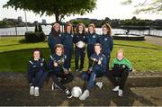 16 May 2018; Limerick County and Limerick Desmond players, from left, Chloe O'Neill, Alannah Mitchell, Yasmin Reeves Wasiki, Anna Shine, Clare O'Riordain, Maura Shine, Nicole McNamara, Amy Thompson, and Kelsey Reeves in attendance during the Gaynor Cup Launch at the Lord Mayor's Office, in City Hall, Merchants Quay, Limerick. Photo by Matt Browne/Sportsfile
