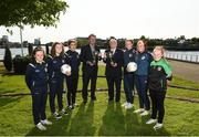 16 May 2018; LSeamus Leahy, Director of Marketing at Fota Island Resort, and Tony Fitzgerald, FAI President, Chloe O'Neill, Clare O'Riordain, Yasmin Reeves Wasiki, Nicole McNamara, Alannah Mitchell, and Kelsey Reeves in attendance during the Gaynor Cup Launch at the Lord Mayor's Office, in City Hall, Merchants Quay, Limerick. Photo by Matt Browne/Sportsfile