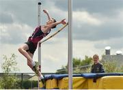 17 May 2018; Lucas Schukat of Presentation College Athenry, Co. Galway, competing in the Minor Boys High Jump event during the Irish Life Health Connacht Schools Track and Field event at Athlone I.T., Athlone, Co. Westmeath. Photo by Harry Murphy/Sportsfile