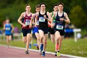 17 May 2018; Michael Morgan of Summerhill College Sligo competing in the Inter Boys 3000m event during the Irish Life Health Connacht Schools Track and Field event at Athlone I.T., Athlone, Co. Westmeath. Photo by Harry Murphy/Sportsfile