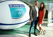 17 May 2018; Paul Devitt of Skerries Rugby Club and his partner, Katie Hanley, pictured at the Ulster Bank League Awards 2018 at the Aviva Stadium in Dublin. Irish rugby head coach Joe Schmidt was in attendance to present the awards to the best rugby players and coaches across all divisions of the Ulster Bank League.  Photo by Sam Barnes/Sportsfile