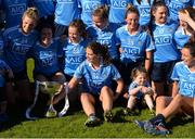 6 May 2018; Noëlle Healy of Dublin and her team-mates celebrate with the cup after the Lidl Ladies Football National League Division 1 Final match between Dublin and Mayo at Parnell Park in Dublin. Photo by Piaras Ó Mídheach/Sportsfile